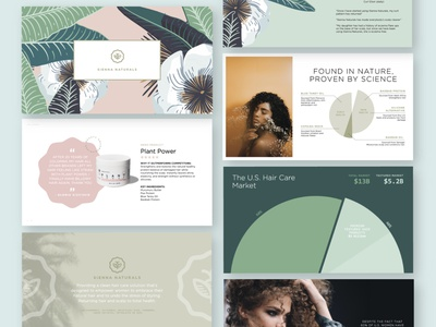 Investor Pitch Deck beauty product beauty haircare pitchdeck powerpoint presentation keynote layout branding