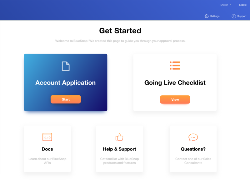 Get Started Page welcome page welcome checklist onboarding ui onboarding box drop shadow shadow gradient white orange blue dashboard console menu design clean minimalistic ux ui