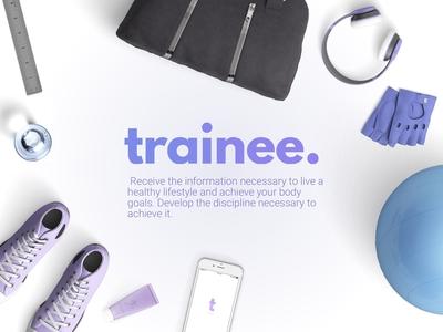 Trainee - Personal Training App +  Logo + Branding + Deck