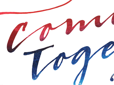 "Come Together ""Sneak Peak"" church america red white blue type come together usa"