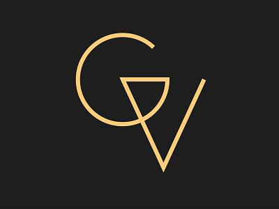 Verena Greiss Logo gold black plain logo initial type typography graphic