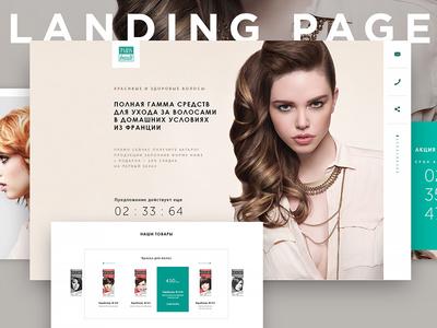 Landing page Paris-Beaute behance ux design ui design woman fashion style design hair ui web landing beauty