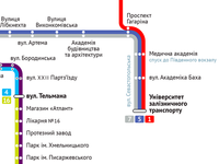 Tram routes of Dnepropetrovsk