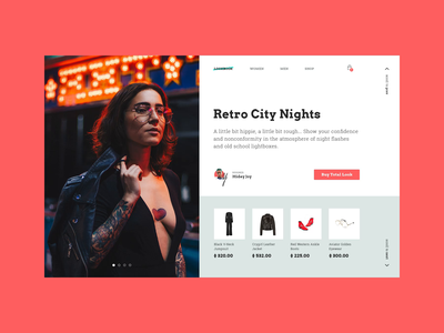 Total Look Online Store concept reddit concept website clothes transaction fashion store interface animation ui  ux ui design interface web