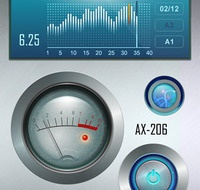 AX-206 Iphone app user interface