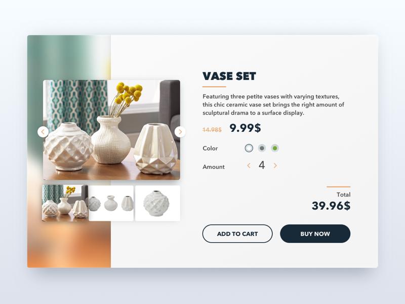 Daily UI: e-commerce card ui ux e-commerce interface design shop web furniture design