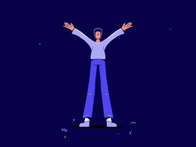 36 days of type - Y framebyframe dance sporting outside knees legs shirt sport squat clapping face hair hands man clap smear loop procreate illustration animation