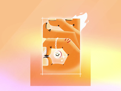 Alrighty animation 2d framebyframe loop frame boxed hands hand nail gradient smiley smile tricks trick chain coin fire procreate illustration animation
