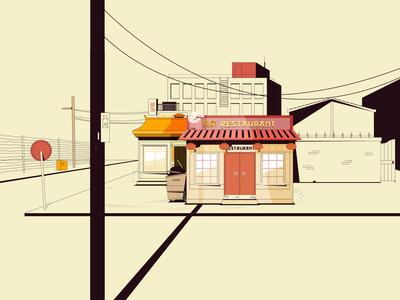 Restaurant in daylight