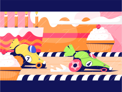 Rainy racing