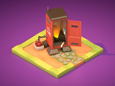 Borderlands loot! toilet treasure borderlands chest loot earth illustration diorama isometric design game cartoon low poly poly low
