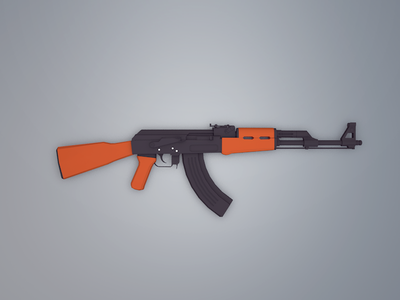 Low Poly AK-47 game cartoon low poly poly low military weapon kalashnikova 47 ak-47 ak
