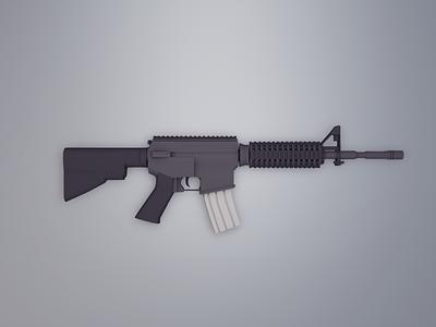 Low Poly M4 low low poly usa american military counter strike cs go cs weapon gun rifle m4