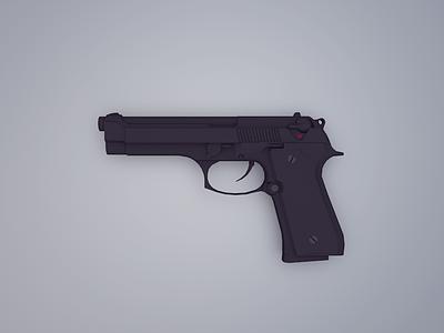 Beretta M9 fire poly low army military gun m9 beretta pistol