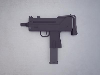 UZI game mac-10 military weapon gun submachine uzi