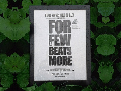 """""""For a few beats more"""" poster poster plant rain typo"""