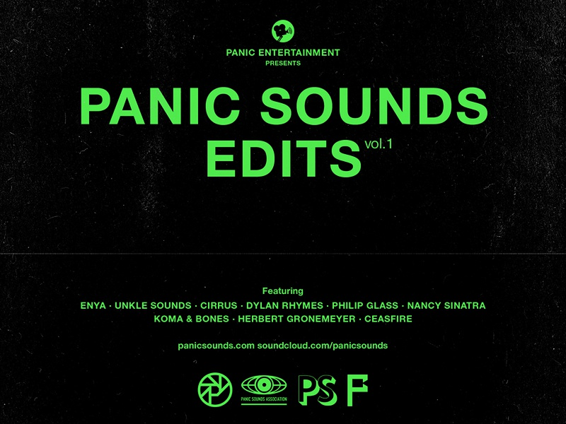 Panic Sounds Edits — Vol 1 type helvetica typography logo music cover breaks movies film