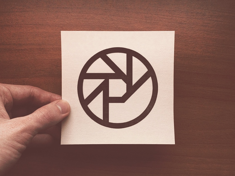 """Another """"Panic sounds"""" logo. Printed on a cartridge paper p aperture logo paper wood panic sounds music shutter oldschool 70"""
