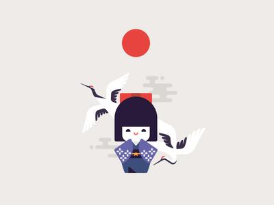 Tanchōzuru Kokeshi