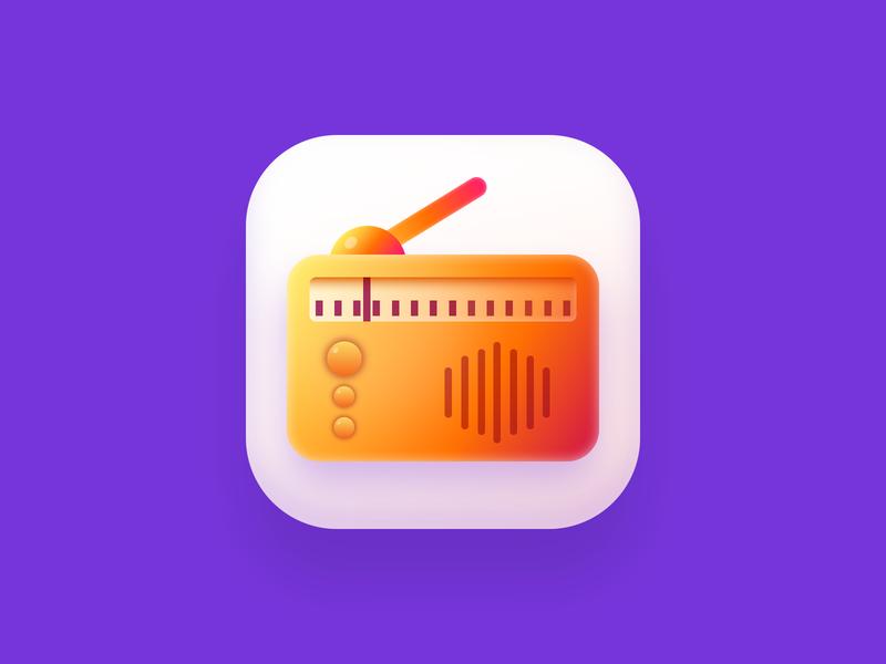 Radio icon ui icon app