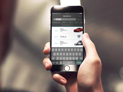 Car.Specs.App app ios ui list view search