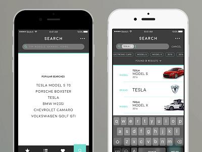 Car.Specs.App directory view app ios ui list view search