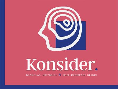 Konsider. identity logo branding