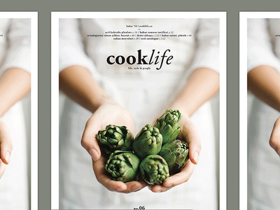 Cooklife.Magazine branding food lifestyle photography cover layout magazine print