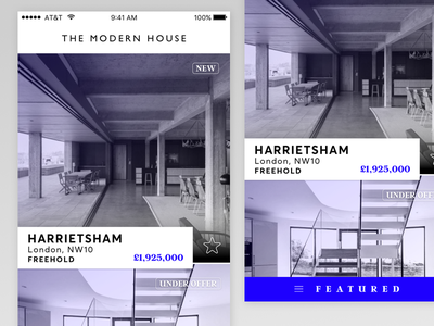 The.Modern.House App featured icon list view navigation ui user interface