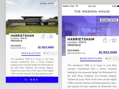 The.Modern.House App page product app iphone ux ui user interface