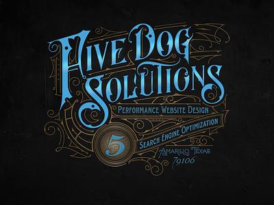 Five Dog, Texas - Vector vector details apparel lettering biernat branding handlettering typografia logo typography