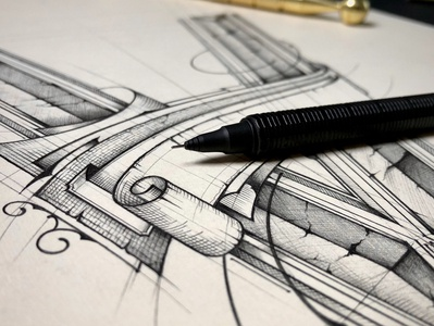 V | Lettering szkic details handlettering poster design pencil sketch biernat illustration typography lettering