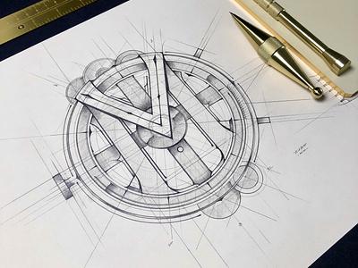 M... | Logo Concept for App tomdixon concept biernat details szkic illustration pencil branding handlettering sketch design logo