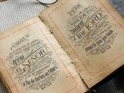 For I Know The Plans antique verses design type book old typography typografia