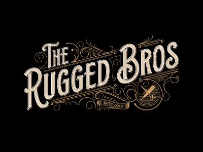 The Rugged Bros vintage design typografia rugged typography logo