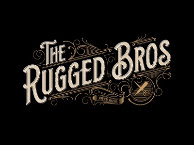 The Rugged Bros vintage design typografia rugged typography logo