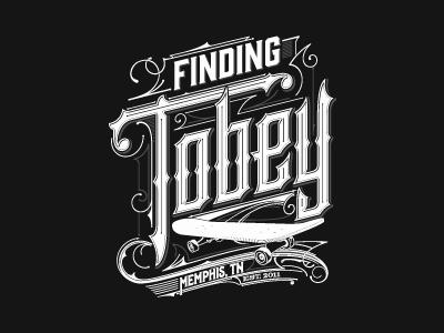 Finding Tobey usa skateboarding skateboard skate design tn memphis film movie typografia typography logo