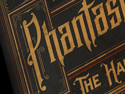 Phantasmagorey Poster ball brooklyn halloween new york typografia typography design victorian plakat poster phantasmagorey