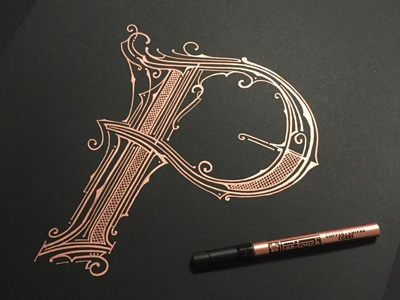 36daysoftype - P forfun letterring handlettering copper typography p 36days-p36daysoftype04 36daysoftype