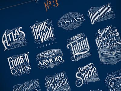 Some Logos & Typo :) biernat brand details design typografia typography logos