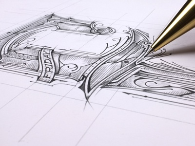 F - Friday | Sketch lettering rysunek drawing concept szkic typografia typography pencil sketch