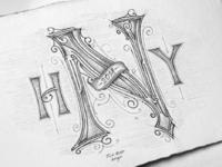 Happy new year sketch tomasz biernat 01