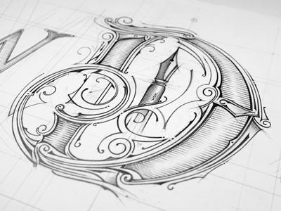 WDK | Sketch lettering typografia typography details logo warsaw house calligraphy