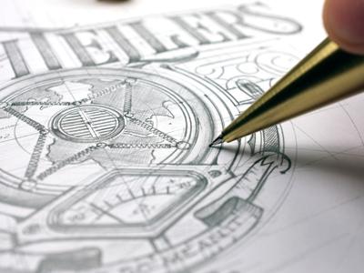 Truthtellers Logo biernat details typografia typography lettering sketch ołówek pencil szkic logo