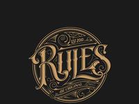 Rules logo tomasz biernat lettering 03