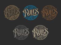 Rules logo tomasz biernat lettering 04