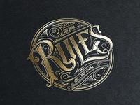Rules logo tomasz biernat lettering 02