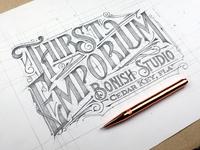 Tomasz biernat lettering sketch 02