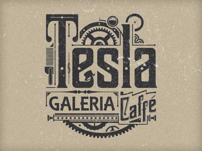 Tesla Logo gallery logo steampunk caffe typography american tesla teslalogo retro