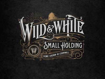 Wild & White england handlettering lettering logo
